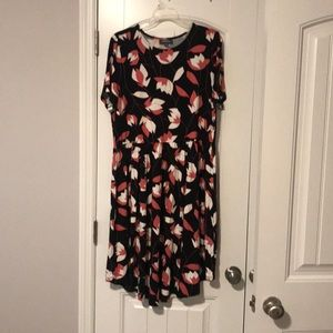 NWOT Modcloth pink and white floral dress